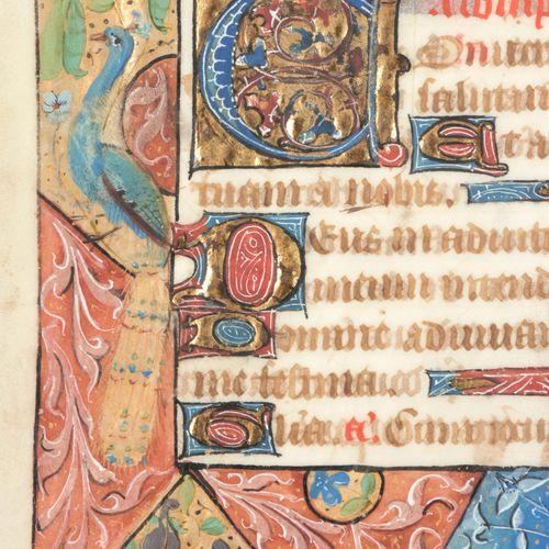 [MINIATUURBLADEN] Twee bladen op perkament, Rouen ca. 1480  Afmeting: (162 x 122…