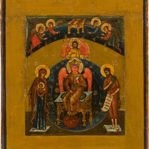 AN ICON SHOWING SOPHIA, THE WISDOM OF GOD Russian, 17th century Tempera on wood …