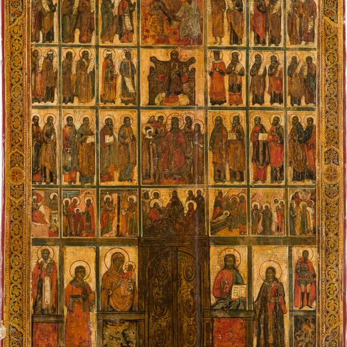A LARGE ICON SHOWING A CHURCH ICONOSTASIS Russian, 18th/19th century Tempera on …