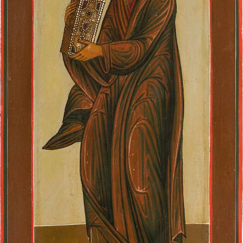 A LARGE ICON SHOWING THE APOSTLE BARTHOLOMEW FROM A CHURCH ICONOSTASIS Russian, …