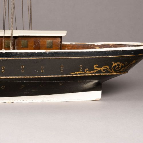 A LARGE WOOD AND METAL SHIP MODEL OF TSAR NICHOLAS II YACHT 'STANDART' Late 19th…