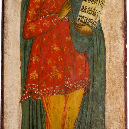 A MONUMENTAL ICON SHOWING THE PROPHET DANIEL FROM A CHURCH ICONOSTASIS Russian, …