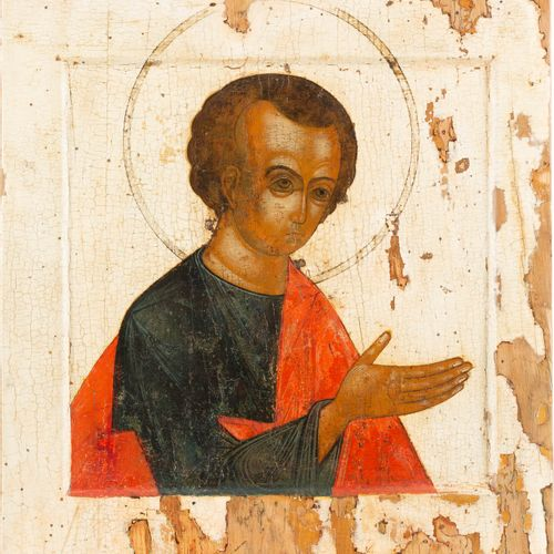A LARGE ICON SHOWING ST. THOMAS FROM A CHURCH ICONOSTASIS Russian, 17th century …