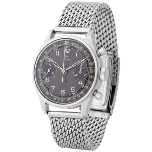 Omega. Unusual and Special Chronograph Wristwatch in Steel, reference CK 2077, W…