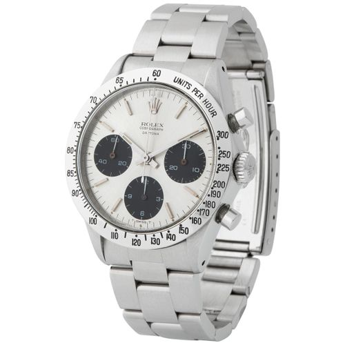 Rolex. Sought after Daytona Chronograph Wristwatch in Steel, Reference 6239, Wit…