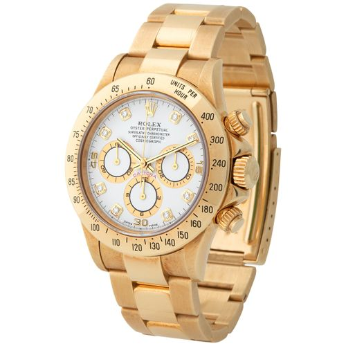 Rolex. Very Rare and Luxurious Daytona Chronograph Wristwatch in Yellow Gold, Re…