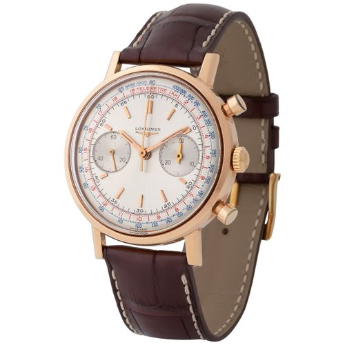 Longines. Fine and Glorious 30CH Chronograph Wristwatch in Pink Gold, Reference …