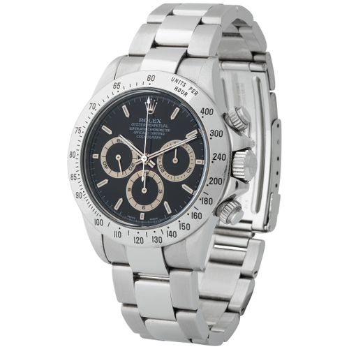 Rolex. Fascinating and Iconic Daytona Chronograph Wristwatch in Steel, Reference…