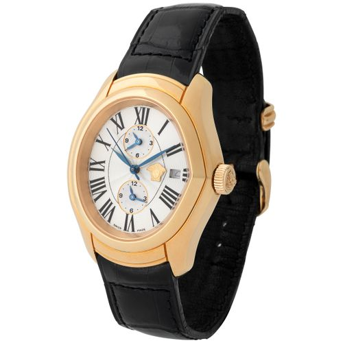 Gianni Versace. Limited Editions Master Banker Automatic Wristwatch in Pink Gold…