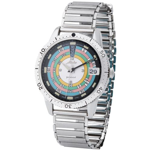 Mido. Charismatic and Colorful Oversized Mido Ocean Star Diver Powerwind Wristwa…