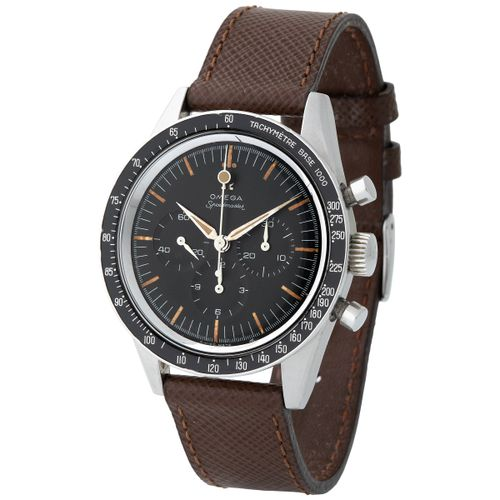 Omega. Historically Important and Early Speedmaster Chronograph Wristwatch in St…