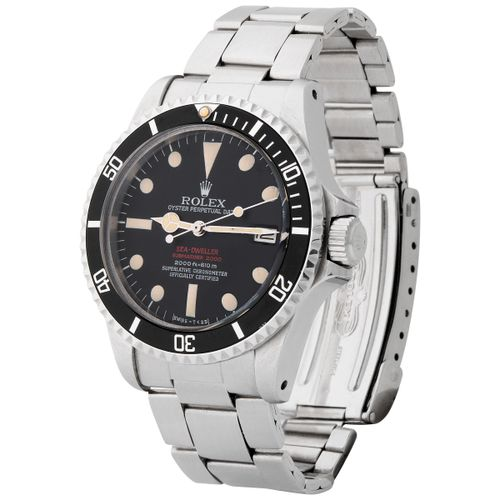 "Rolex. Sought after and Desired Sea Dweller ""Double Red"" Automatic Wristwatch in…"