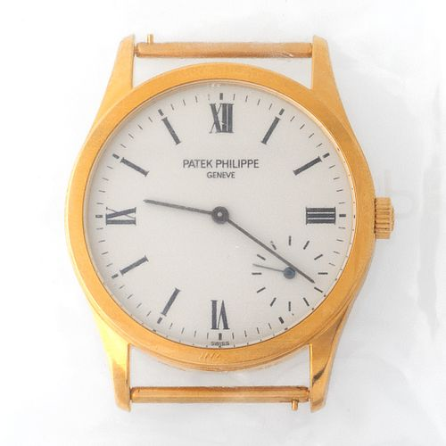 Patek Philippe. Limited Edition and Sophisticated Calatrava Wristwatch in Yellow…