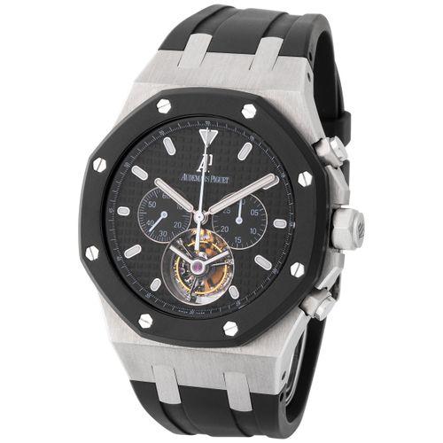 Audemars Piguet. Very Attractive Royal Oak Tourbillon Chronograph Wristwatch in …