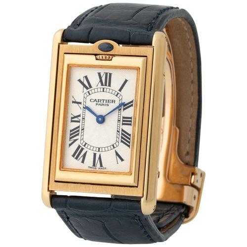 Cartier. Limited Edition and Elegant Réversible Basculante Rectangular shape Wri…
