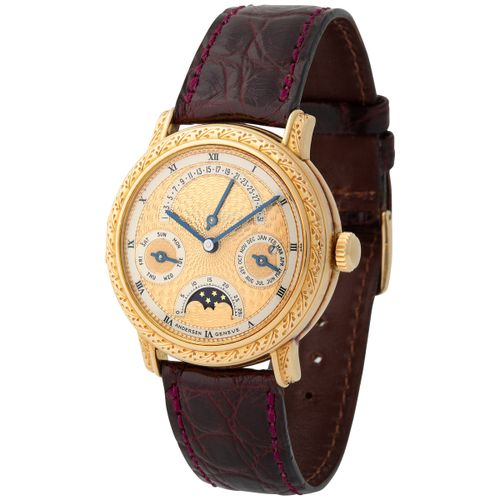 Andersen Geneve. Extraordinary and Unique Wristwatch in Yellow Gold, Reference 5…