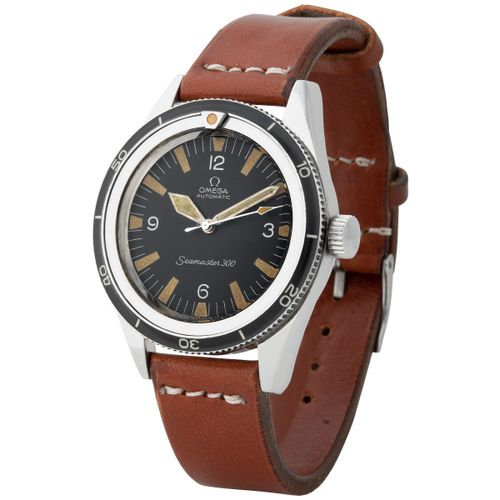 Omega. Beautiful and Historically Important Seamaster 300 in Steel, Reference 16…