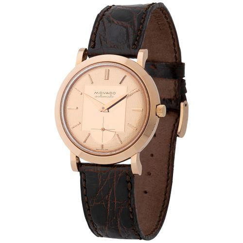 Movado. Nice and Beautiful Calatrava Style Automatic Wristwatch in Pink Gold, Re…