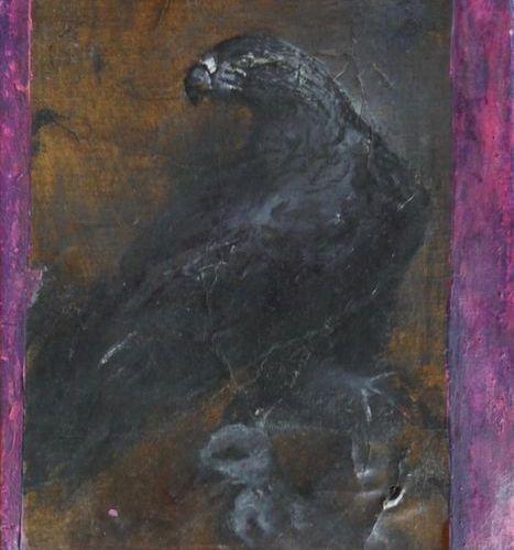 Jean Jacques OSTIER (1945 2011) Sans titre Aigle Huile sur toile Signée Ostier e…