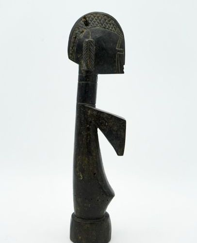 Mossi fertility doll Burkina Faso Wood H.: 39 cm. Fertility doll with a narrow f…
