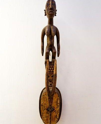 Mask karan wemba Mossi Burkina Faso Wood, pigments H.: 92 cm. Antropozoomorphic …