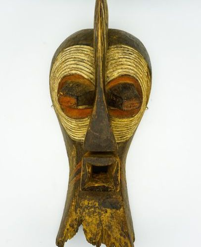 Kifwebe Songye Mask DRC Wood, pigments H.: 62 cm. Missing in the lower part Larg…