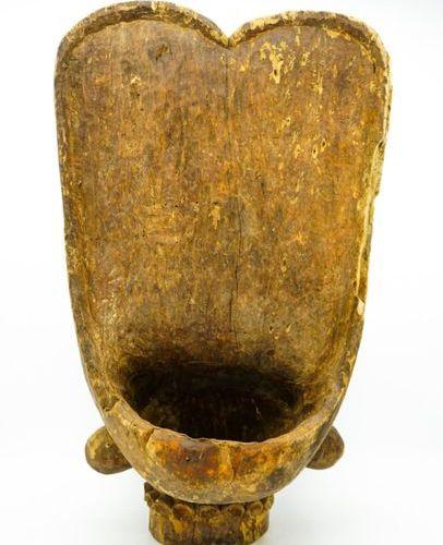 Masque dit Batcham Bamileke Cameroun Bois H. : 60,5 cm. Masque anthropo zoomorph…