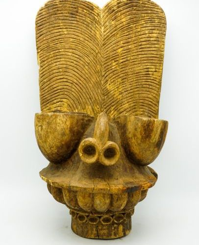 Mask known as Batcham Bamileke Cameroon Wood H.: 60.5 cm. Anthropo zoomorphic ma…