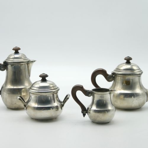 PUIFORCAT  950/1000e silver coffee service part comprising a coffee pot, a poure…