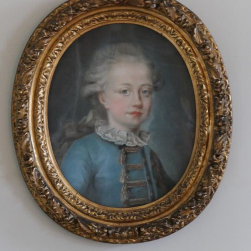 18th CENTURY FRENCH SCHOOL  Portrait of a young boy of three quarters of an age …