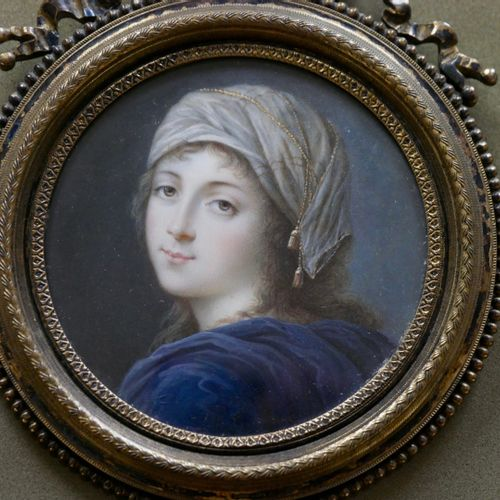 BOUDIN (active around 1785 1810)  Portrait of a young girl in a turban  Miniatur…
