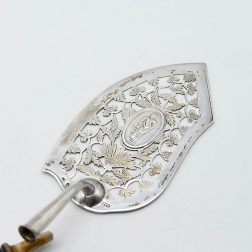 GERMANY AUGSBURG XVIIIth CENTURY  800/1000th silver fish shovel with openwork de…