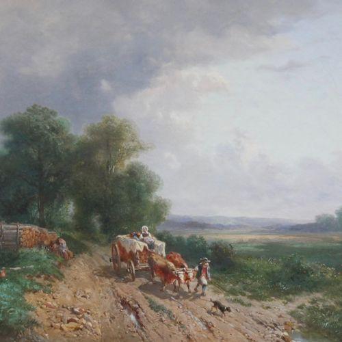 Émile LEMMENS (1821 1867)  The wood chores, 1855  Oil on canvas  Signed E. Lemme…