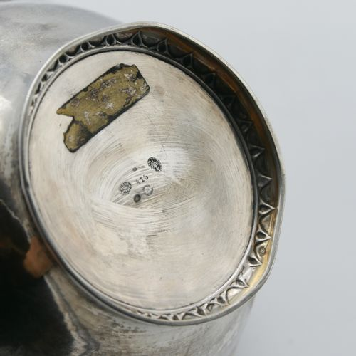 Georg JENSEN (1866 1935) DENMARK  Circular bowl in 925/1000e silver resting on a…