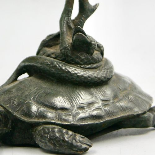 AUGUST NICOLAS CAIN (1821 1894), ACCORDING TO  Stork on a snake on a turtle  Bro…