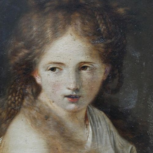 Julien de PARME (Cavigliano 1736 Paris 1799)  Portrait of a young girl in a pain…
