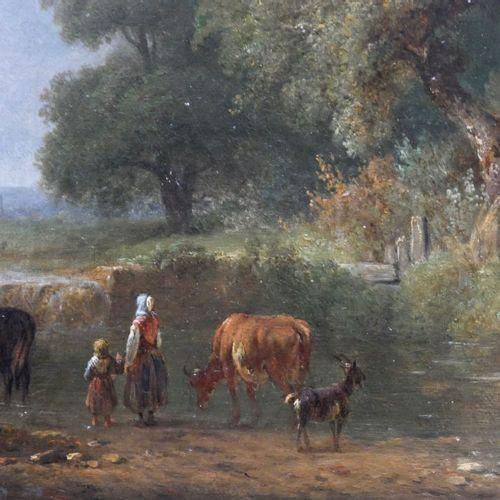 Jules Hippolyte DELAROCHE (1795 1849)  Halt at the water's edge, 1843  Oil on ca…