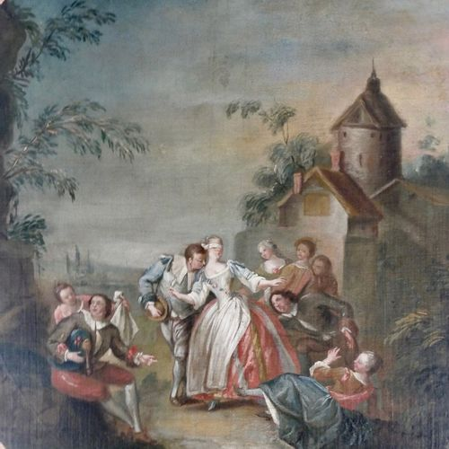 FRENCH SCHOOL OF THE XVIIIth CENTURY Surrounding by Jean Baptiste PATER  Le Coli…