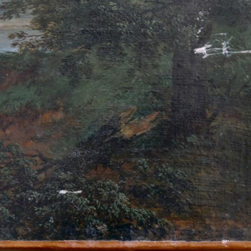 FRENCH SCHOOL CIRCA 1810  The storm  Oil on canvas  Size: 46 x 55.5 cm. 18 x 21 …