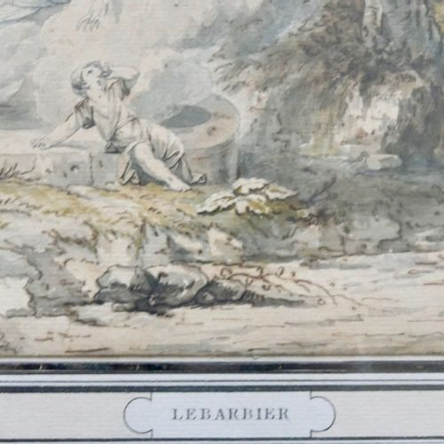 Jean Jacques François I LEBARBIER (1738 1826)  The Appearance  Ink and watercolo…