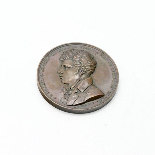 Nicolas Pierre TIOLIER (1784 1843)  Commemorative bronze medal of Tiolier on the…