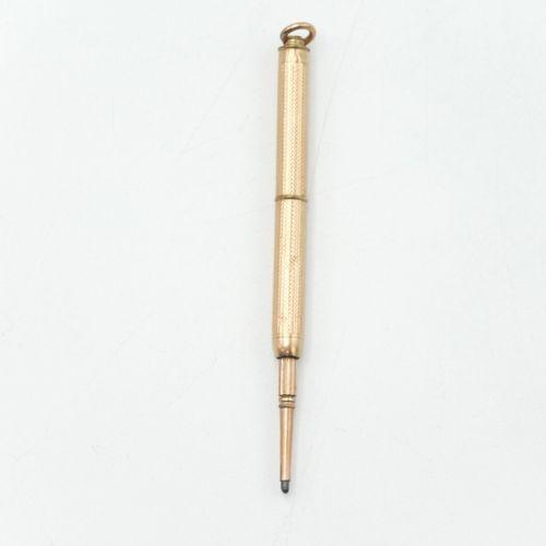 FRANCE DÉBUT DU XXe SIÈCLE  Lot de cinq porte mines ou porte crayons en or 750/1…