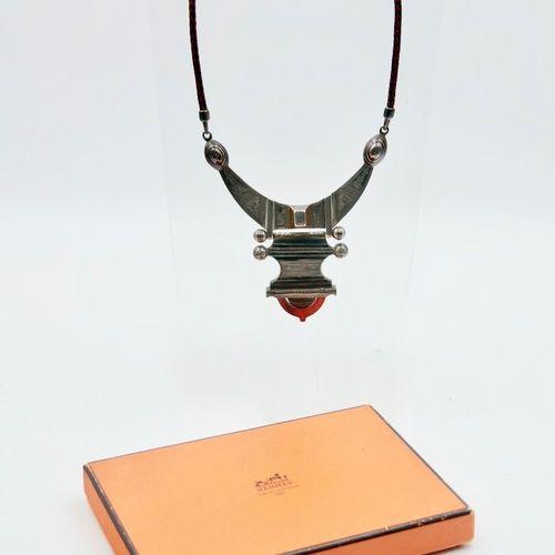 HERMÈS Paris 1994/95  Collier Iguezam collection Les Bijoux Touareg en argent 92…