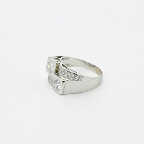 ART DÉCO  Ring in platinum 950/1000e set with two diamonds of about 0,25 ct. And…
