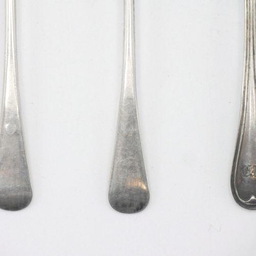 PARIS DÉBUT DU XIXe SIÈCLE  Deux pelles à sel en argent 950/1000e, le cuilleron …