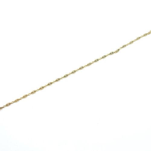 VERS 1900  Chaîne de montre de gousset en or 750/1000e, fermoir mousqueton  Poid…