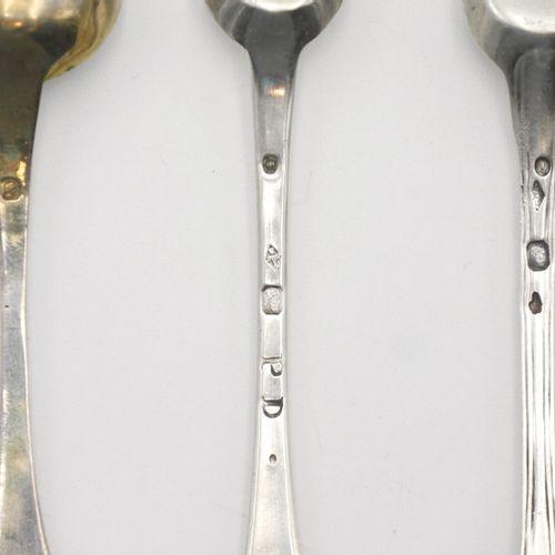 FRANCE XIXe SIÈCLE  Ensemble en argent 950/1000e composé de trois pelles à sel e…