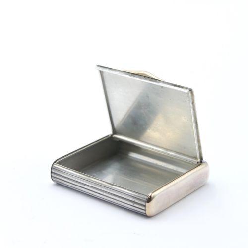 VAN CLEEF & ARPELS  Étui à cigarettes en argent 800/1000e en partie doré, godron…