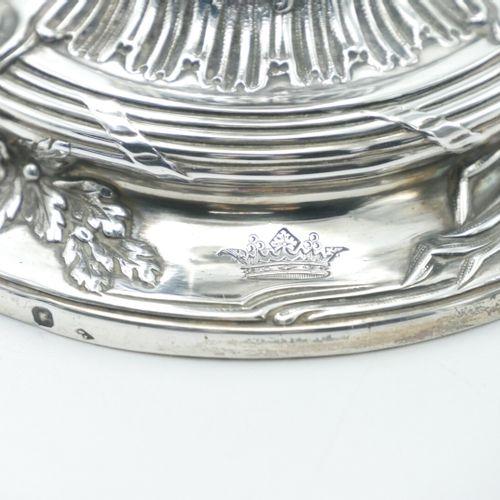 FRANCE XIXe SIÈCLE  Paire de flambeaux en argent 925/1000e à fût balustre de sty…