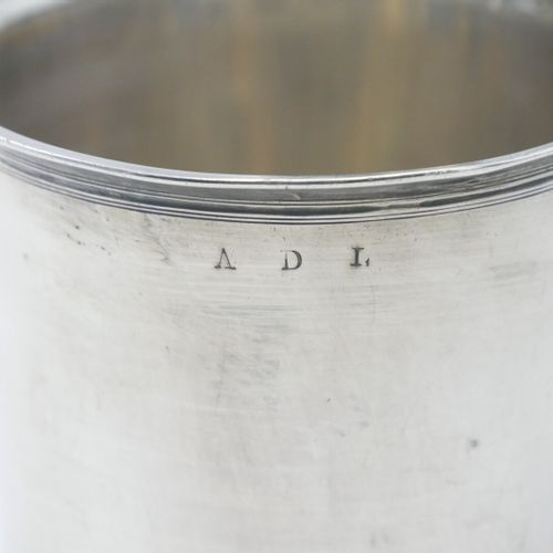 Théodore TONNELIER 1803 1809  Timbale d'officier en argent 950/1000e gravé ADL  …